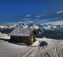 Alpine Hut with a view by Stefan Trenker