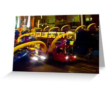 London Red Bus Greeting Card