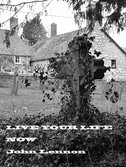 LIVE YOUR LIFE NOW John Lennon by artfulvistas
