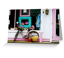 Bicycle by Antique Shop Greeting Card