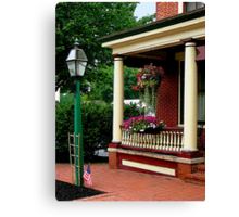 Porch with Hanging Basket Canvas Print