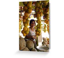 The Girl in the Santarem Brazil Market Greeting Card