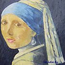 Peter the Red'sStudy of Johannes Vermeers  Girl with a pearl earring  by Alex Gardiner