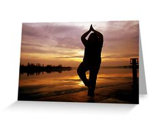 Sunrise Yoga Greeting Card