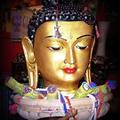 Colorful Buddha - with incense by EdsMum