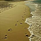 Footprints in the Sand by edwinaC