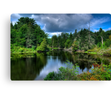 Maine - Lake  Canvas Print