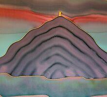 Pink dawn behind Glastonbury Tor by Jan Billings
