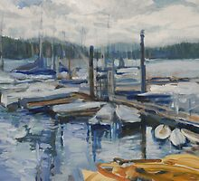 Blue Boats by John Fish