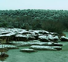The Year's Only Snowfall in Glen Rose, Texas by Susan Russell