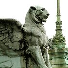 Lion statue on Altare della Patria, in Roma by John  McCoy