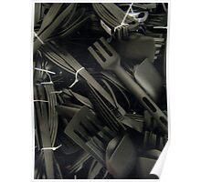 plastics in black Poster