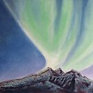 Mountain Aurora. by Constance Widen