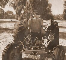 Old Tractor by Julie  Sutherland