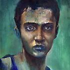 Green Self Portrait 1984 by simonsmith1