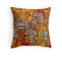 Metal and Stone Throw Pillow