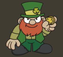 Leprechaun with Gold Coin by Wislander