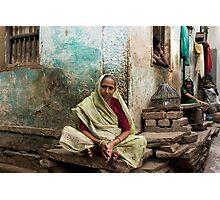 Resting. Varanasi Photographic Print