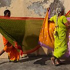 Saris. Dwarka by Claude  Renault