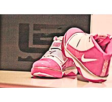 Pink Nike Zoom Lebron Soldiers Photographic Print
