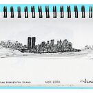 New York City skyline in November 2000 from the Staten Island Ferry. by James Lewis Hamilton