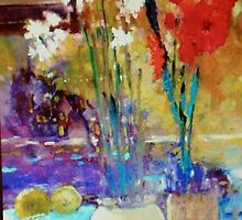 Paperwhites and Poppies by Dale Miller