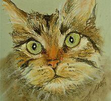 Green Eyed Cat by inker1