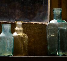 Bottles in the window by SWEEPER