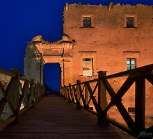 Bridge leading to abandoned castle by Mario Curcio