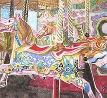 Carousel Horse by Karen  Hull