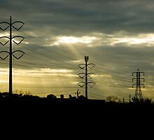 Telephone Wires by Jeffrey Buras