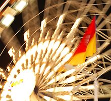Ferris Wheel-L.A. Fair midway by Alan Brazzel