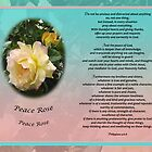 Philippians 4:6-8 The Peace of God - Peace Rose Medium Poster by bronspst
