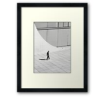 Man and Architecture Framed Print