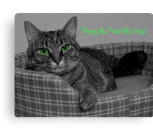 Happy St. Patrick's Day From Gracie Canvas Print