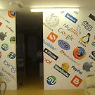 Recent corporate wall mural commission by Deborah Boyle