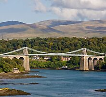 Menai Suspension Bridge by HelenBeresford