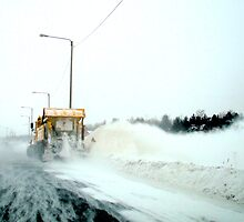 Behind a Snowplow by Ritva Ikonen