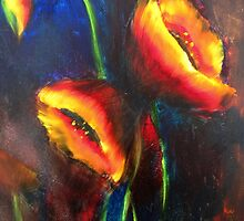 Poppies on Fire by Jeff Hunter