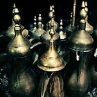 Saudi Arabian Coffee Pots by Karen Field