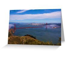 Golden Gate Bridge as pseudo oil painting Greeting Card