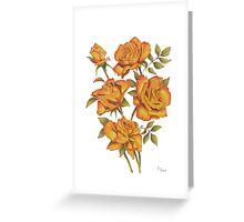 Orange roses on white Greeting Card