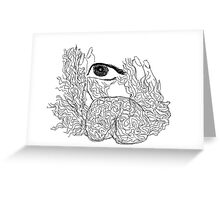 ninth sense - aziums (cintrifugal fields -the higher Consciousness) Greeting Card