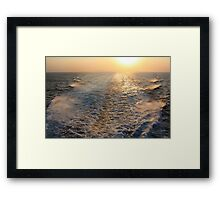 """Sailing into (or is it """"out of""""?) the Sunset  Framed Print"""