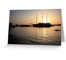 Mediterranean Sunset Greeting Card