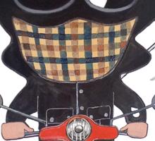 Casual riding vespa Sticker