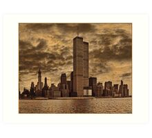 Downtown Manhattan, USA & WTC Towers, Circa 1979 Art Print
