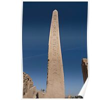Queen Hatshepsut Obelisk at Karnak Temple Poster
