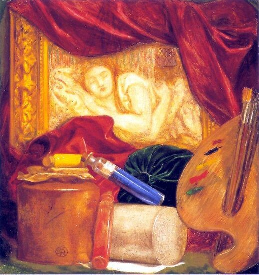 Rossetti The Bottles 1848 by tim norman