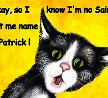 St. Patrick's Day cat by Margaret Sanderson